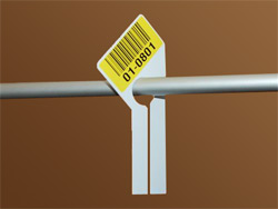 GOH rail dividers with bar code label